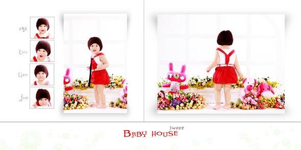 儿童相册模板psd素材我的可爱宝贝2012影楼儿童照片模板九