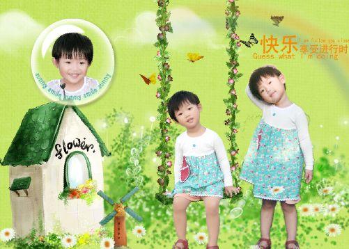 儿童照片模板psd素材炫彩童年系列2012影楼儿童相册模板二