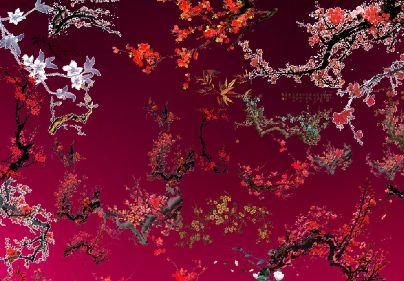 免抠梅花图片模板psd素材各种风格的手绘枝头梅花图片