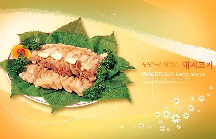 韩国美食模板psd素材十三矢量风格韩国美食图片菜谱