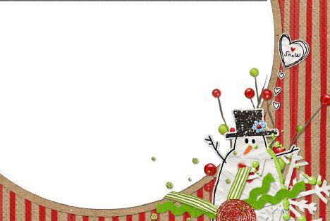 剪贴照片边框模板psd素材剪贴圣诞雪人欧美剪贴风格边框模板下载
