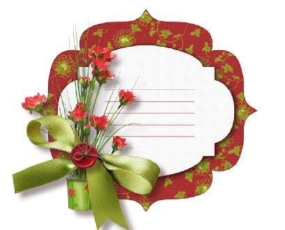 剪贴素材模板psd素材蝴蝶结小盆花剪贴花朵背景记事卡片模板
