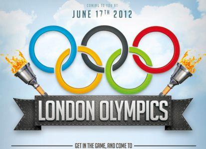 奥运五环模板psd素材伦敦奥运会火炬五环图案奥运会海报模板