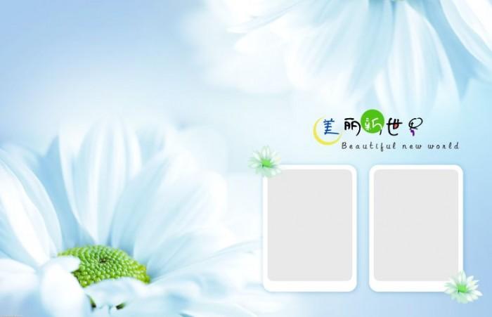9月更新影楼儿童相册模板可爱女孩系列儿童相册psd模板免费下载一(共9