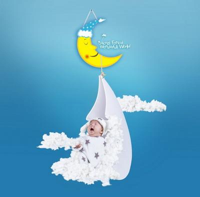 宝宝可爱魔法抠图素材