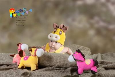 2015年最新3d免抠图百日宝宝相册模板{e201