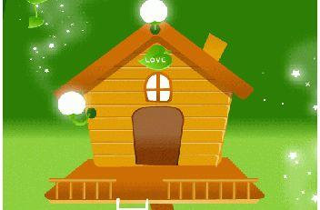 卡通木头房子