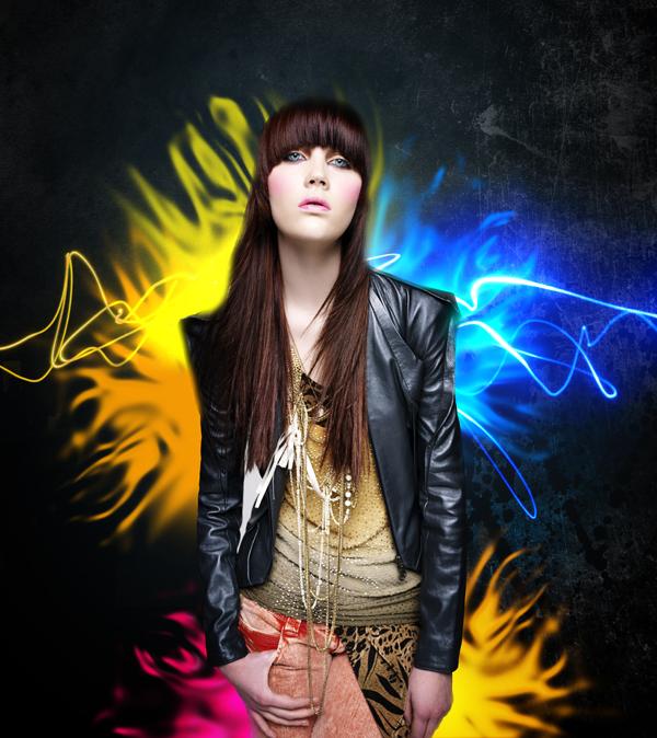 photoshop打造美女超酷的光效图片效果教程中国资源