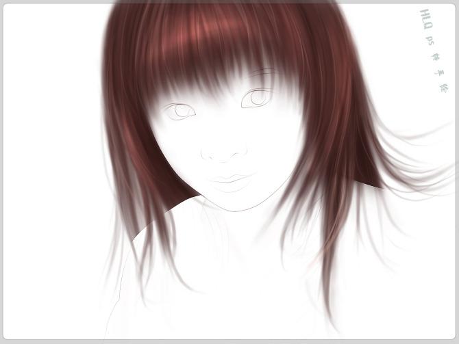 ps照片转手绘教程:mm转手绘之头发的画法