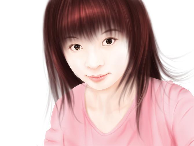 ps照片转手绘教程:mm转手绘之头发的画法[中国资源网