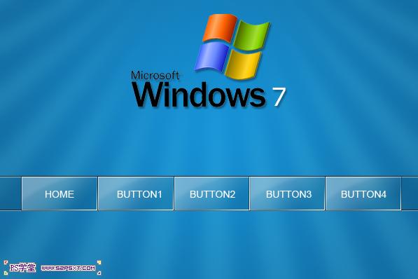 photoshop制作window7移动导航网页界面设计教程