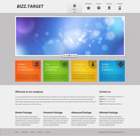 PhotoShop灰色调绚丽的商业web网页设计制作教程