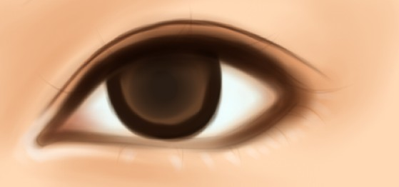 ps照片转手绘教程之水灵的女孩眼睛画法教程