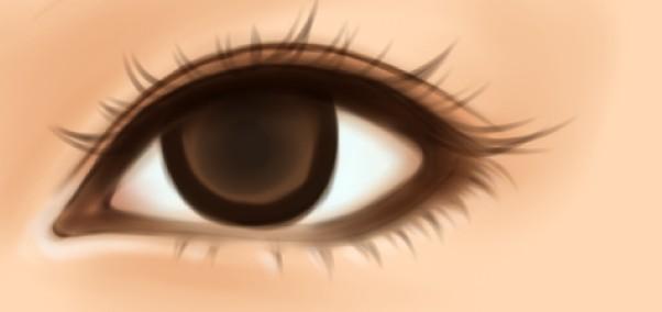 ps照片转手绘教程之水灵的女孩眼睛画法教程[中国