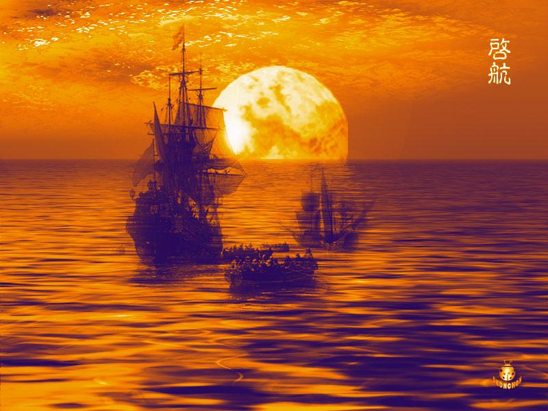 photoshop打造夜晚宁静的海面场景效果鼠绘教程