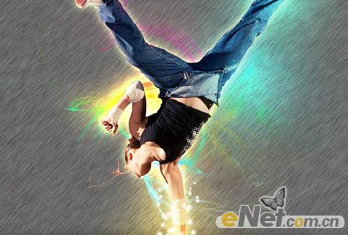 ps打造动感抽象炫光舞者海报效果制作教程[中国资源