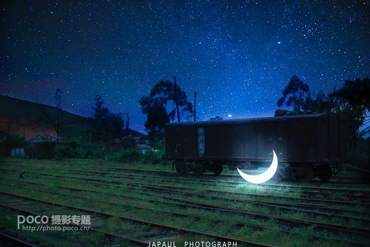 PS后期打造唯美月亮星空幻想童话风格效果教程