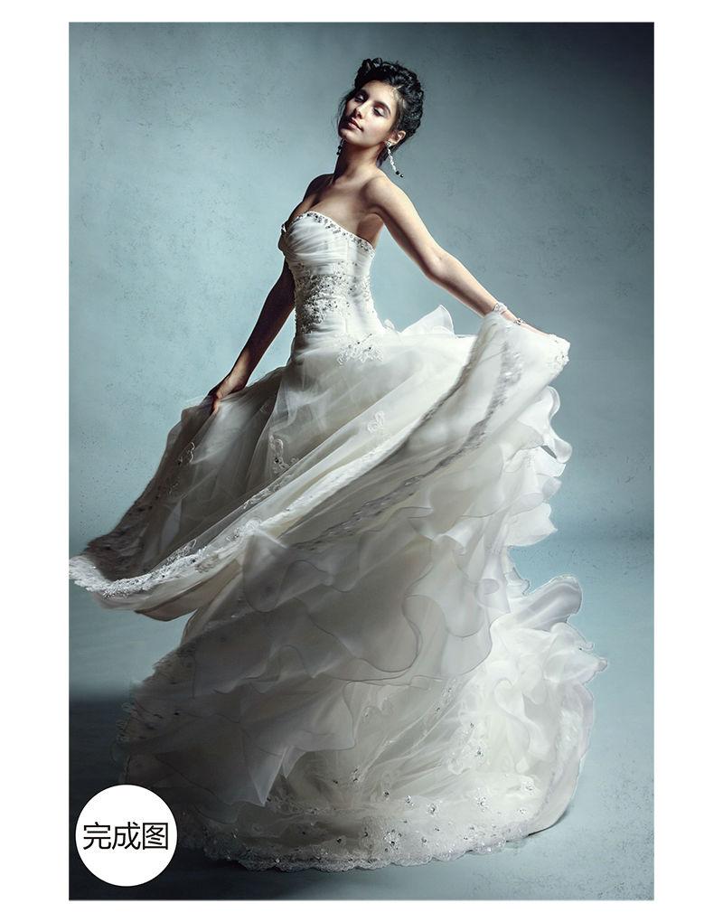 ps仿国外婚纱大片色调和氛围后期制作过程-艾美文库