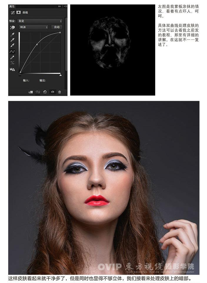 photoshop时尚质感金发模特人像商业后期修片思路教程
