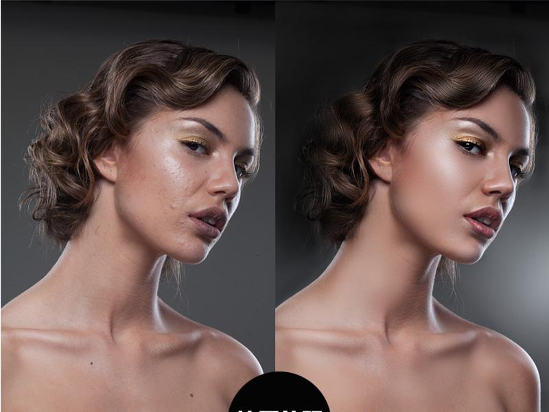 photoshop精修商业人像质感及光影修图后期教程[中国