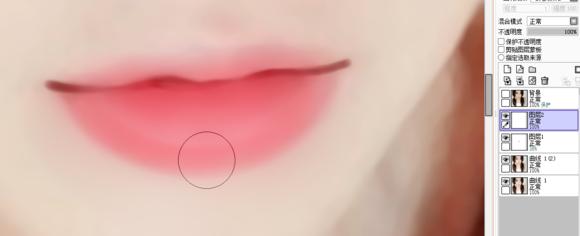 photoshop结合sai仿手绘—水嫩嘴巴的画法转手绘教程