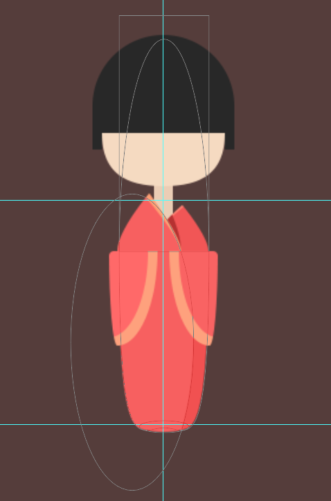 photoshopcc绘制一个扁平化风格的和服小妹图标的教程