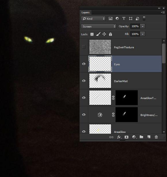 photoshop合成一个黑暗森林中的恐怖鬼屋效果
