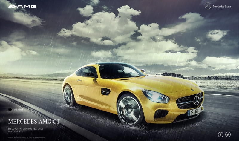 ps打造梅赛德斯-奔驰amg网站首页创意广告汽车海报后期合成教程