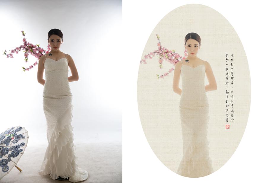 photoshop影楼古典中国风婚纱照片后期教程