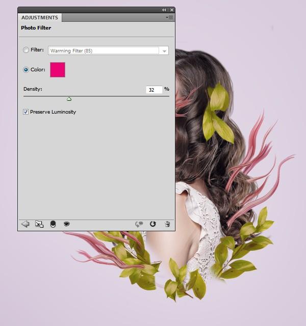 添加花 步骤1 使用图层蒙版与现有的混合元素的花: 第3步
