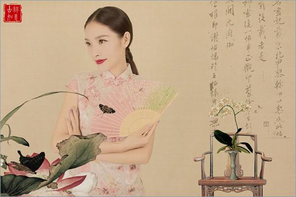 ps简单快速制作出中国风工笔画古典人像效果教程