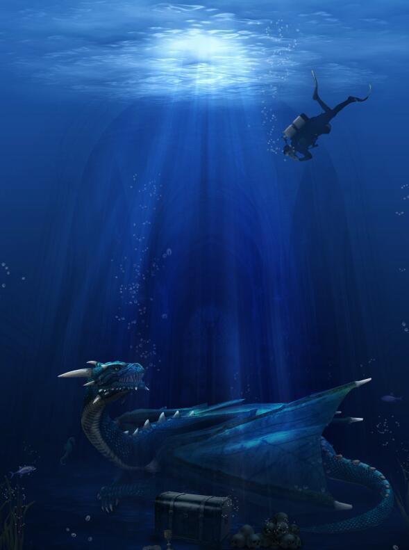photoshop打造海底寻宝场景后期合成教程