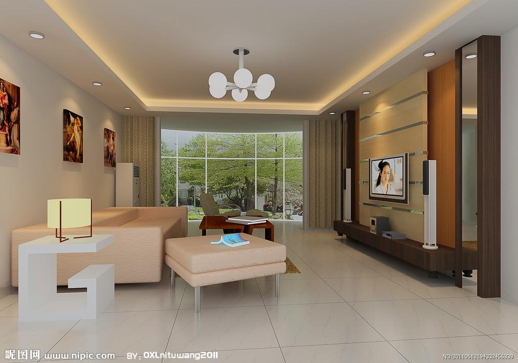 室内 影视墙装饰效果图-室内模型-3d模型下载