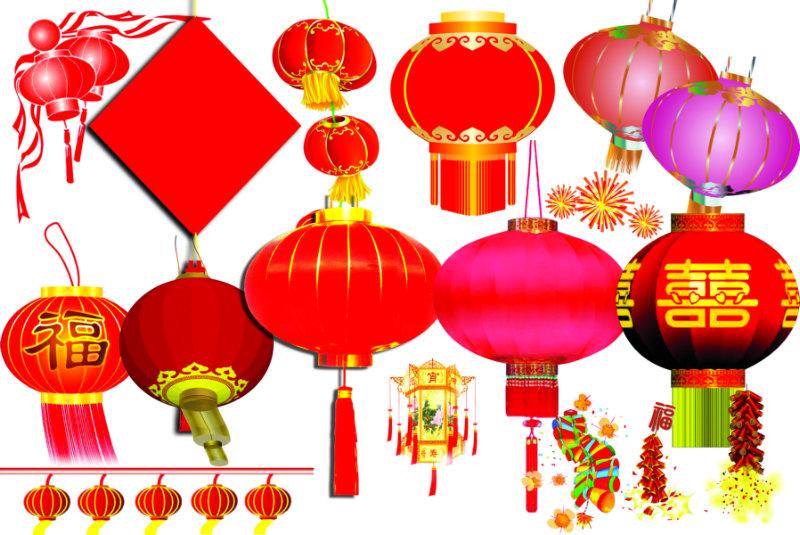 各式各样的喜庆卡通灯笼设计素材psd模板下载 [中国photoshop资源网