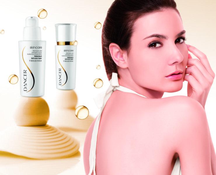 水泡 背景欧洲 美女 脸部特写dancer化妆品广 高清图片