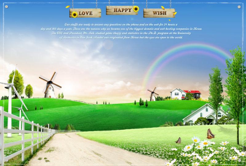 【文件大小:75.32 MB 更新时间: 2011-09-10软件类别:韩国设计psd素材 软件语言:简体中文】 蓝天白云上的天然彩虹绿色的乡村草地风车背景韩国设计psd素材下载  蓝天白云上的天然彩虹绿色的乡村草地风车背景韩国设计psd素材下载, 本系列共400个模板,psd分层格式,全部可以免费下载,值得收藏。 PSD--Photoshop Document(PSD),是著名的Adobe公司的图像处理软件Photoshop的专用格式。这种格式可以存储Photoshop中所有的图层,通道、参考线、注解和