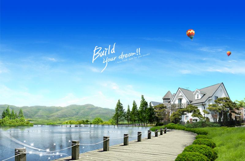 绝对值得收藏的漂亮的三水湖景别墅效果图ps别墅波罗峪济南图片