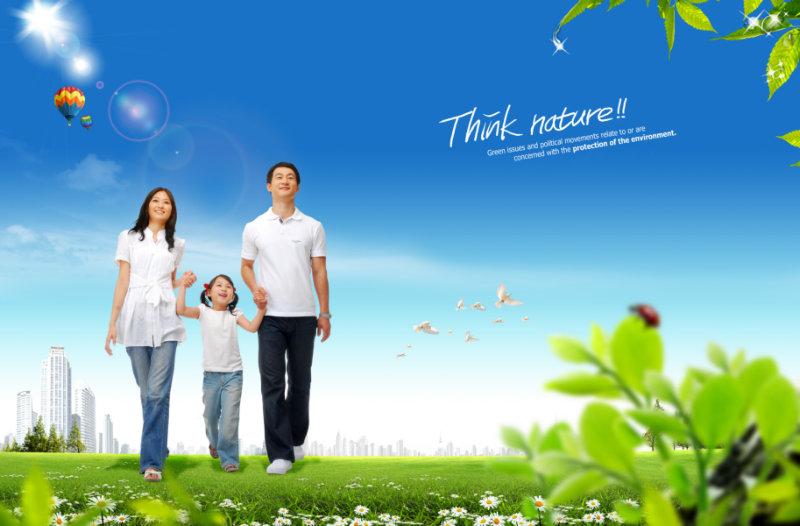 幸福生活的三口之家图片