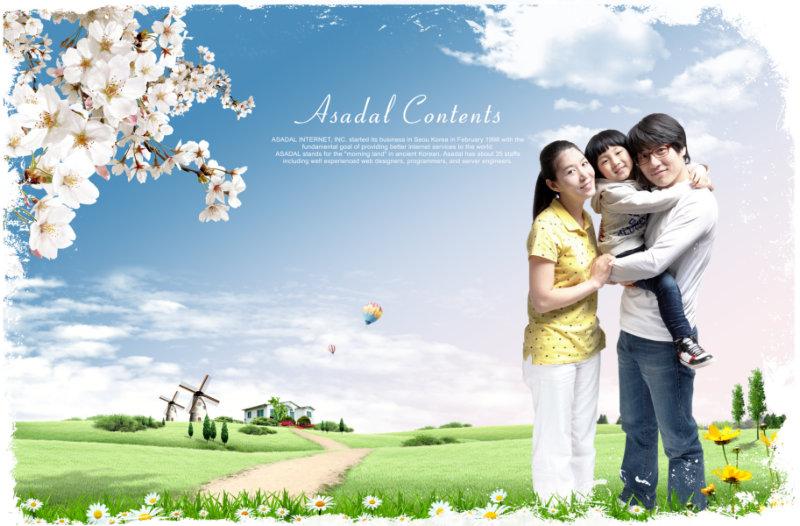 家的温馨图片背景-家庭人物PSD179图片