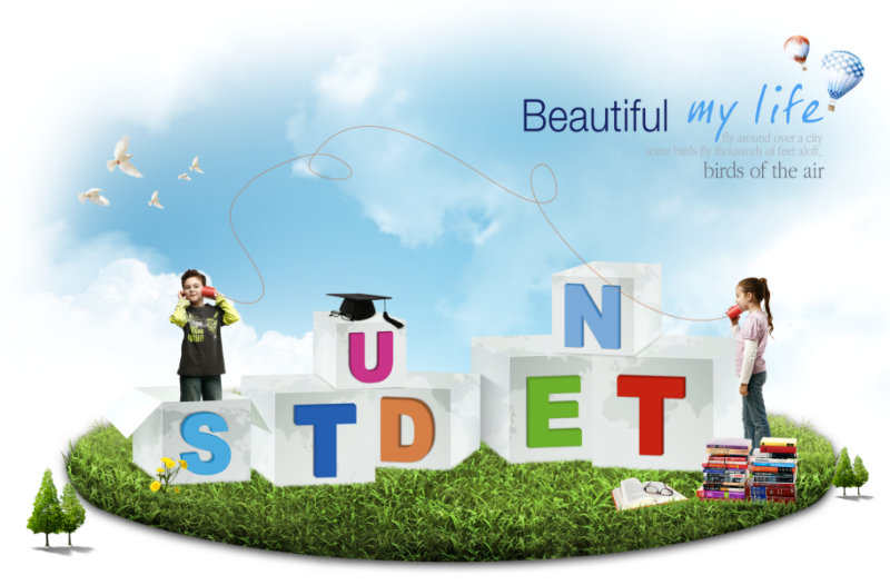 psd素材 设计素材 人物素材 >> 素材信息  男女小学生人物student立体