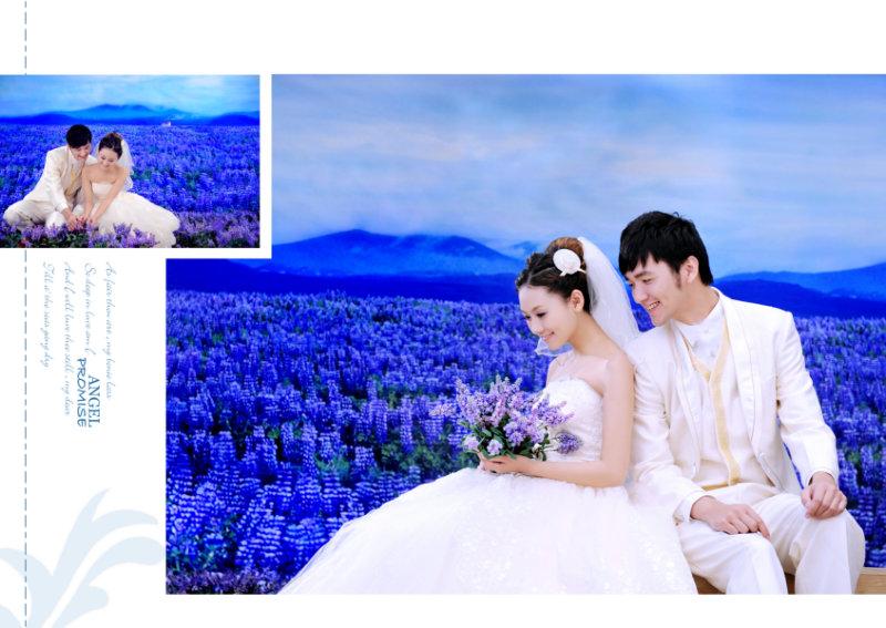 蓝海|经典时尚婚纱相册模板psd素材免费下载2