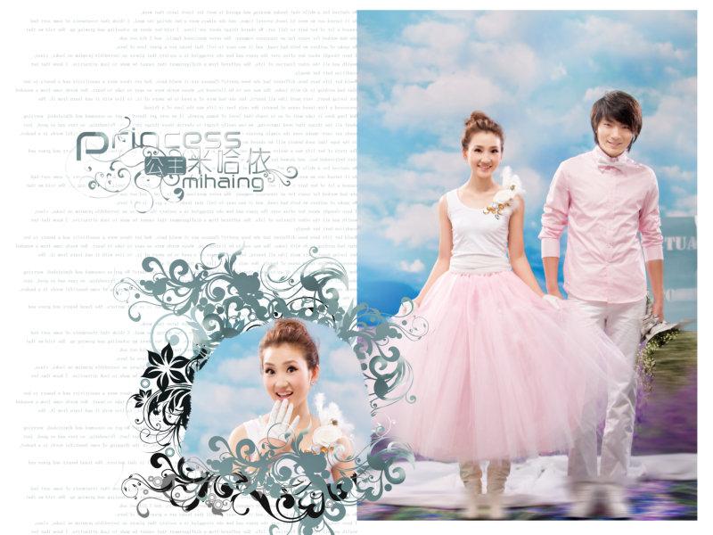 哈米依公主|时尚婚纱模板psd素材免费下载8