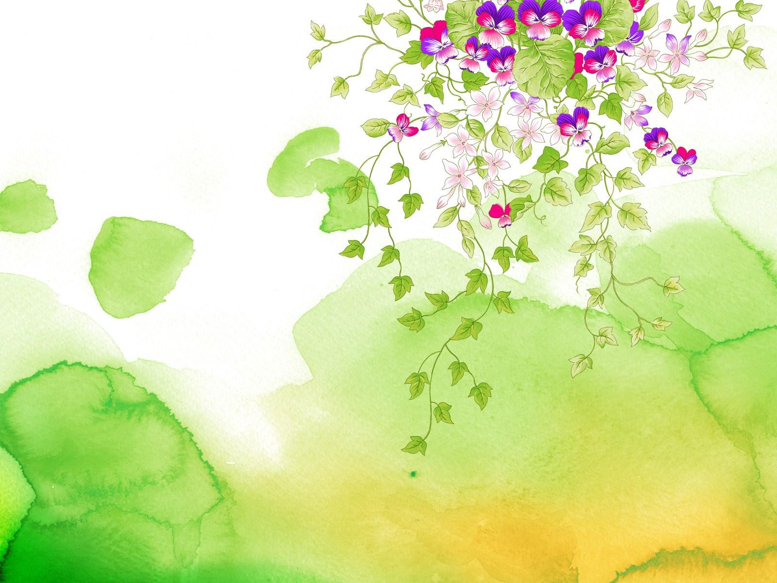 漂亮的手绘油画花蝴蝶背景素材(13p)[中国photoshop