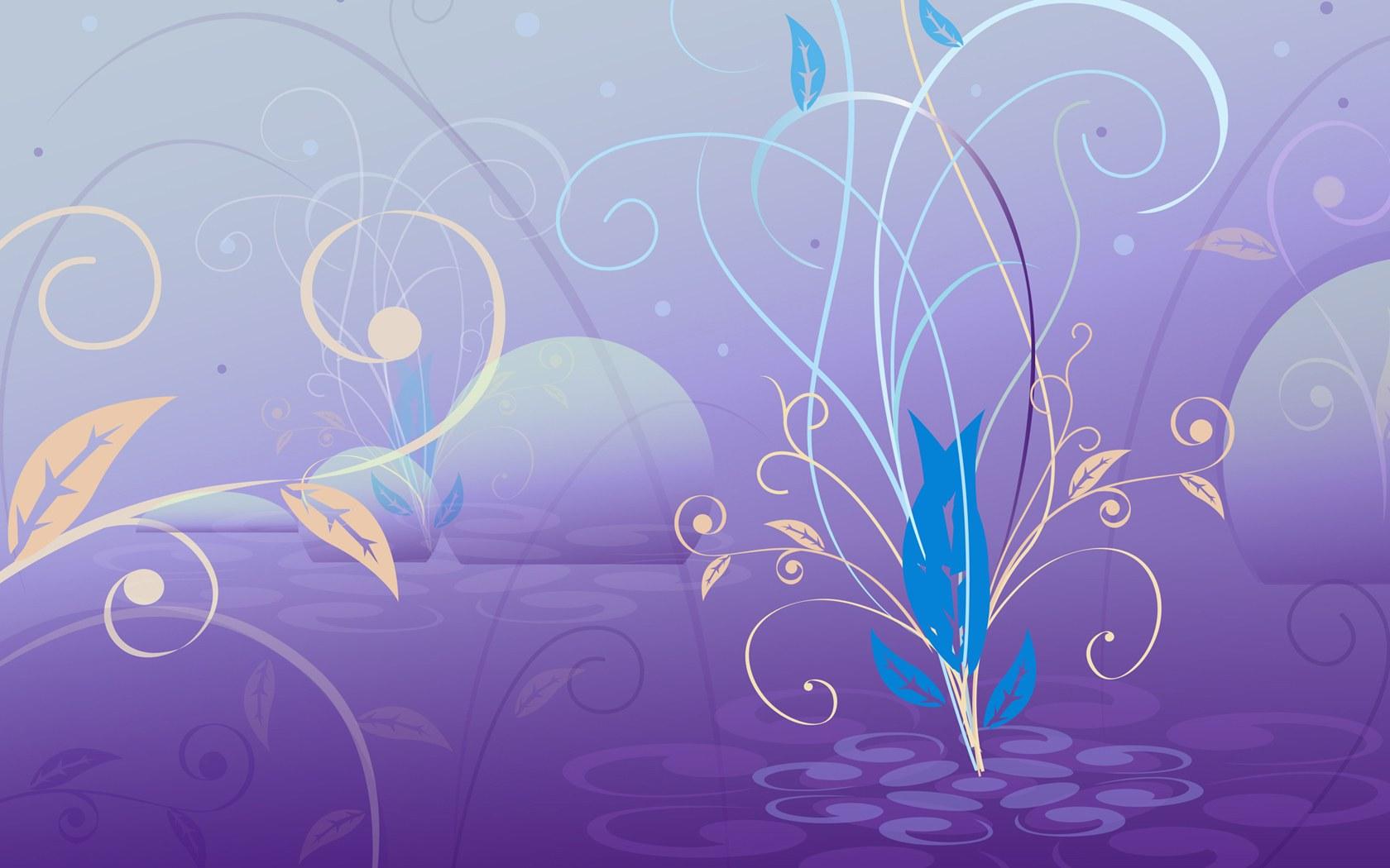 超漂亮的韩国矢量花纹背景素材