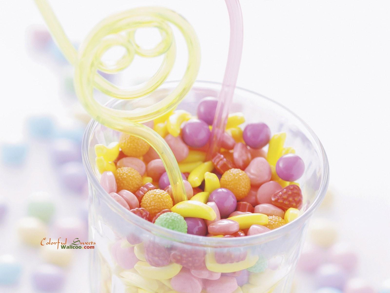 非常可爱的缤纷糖果高清背景图片素材1