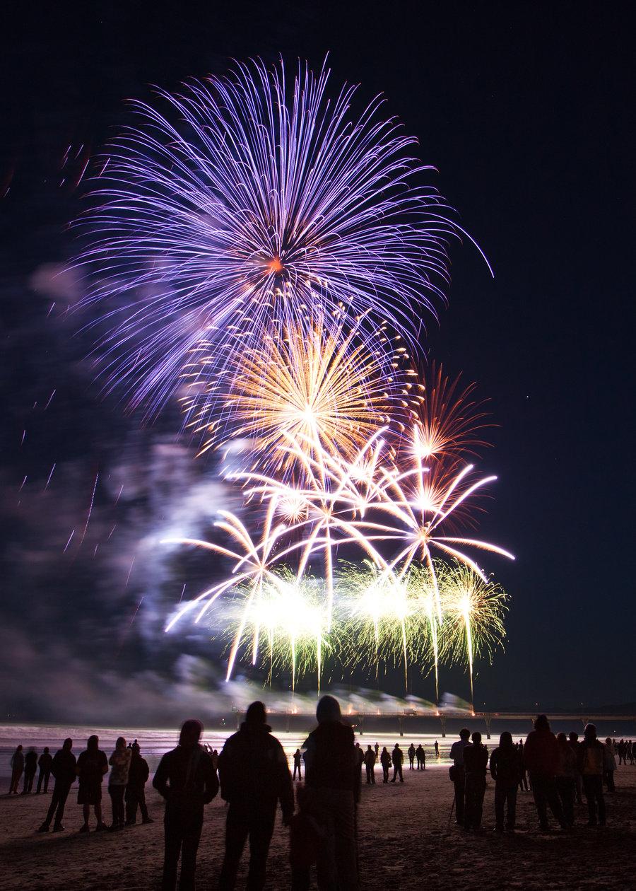 世界各地城市夜晚焰火烟花风景图片素材(20P