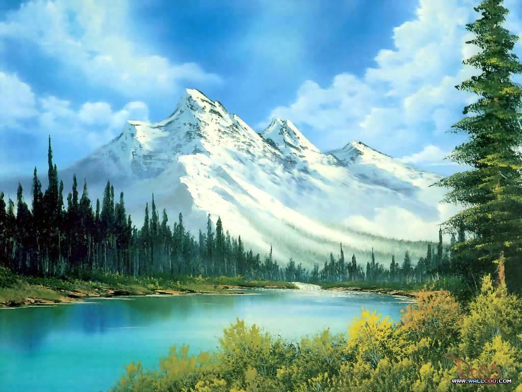 中国山水风景油画_美丽的山水风景油画图片素材(20P)[中国PhotoShop资源网|PS教程|PSD