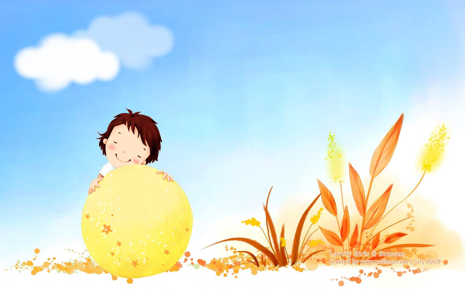 可爱的卡通小女孩一(12p)