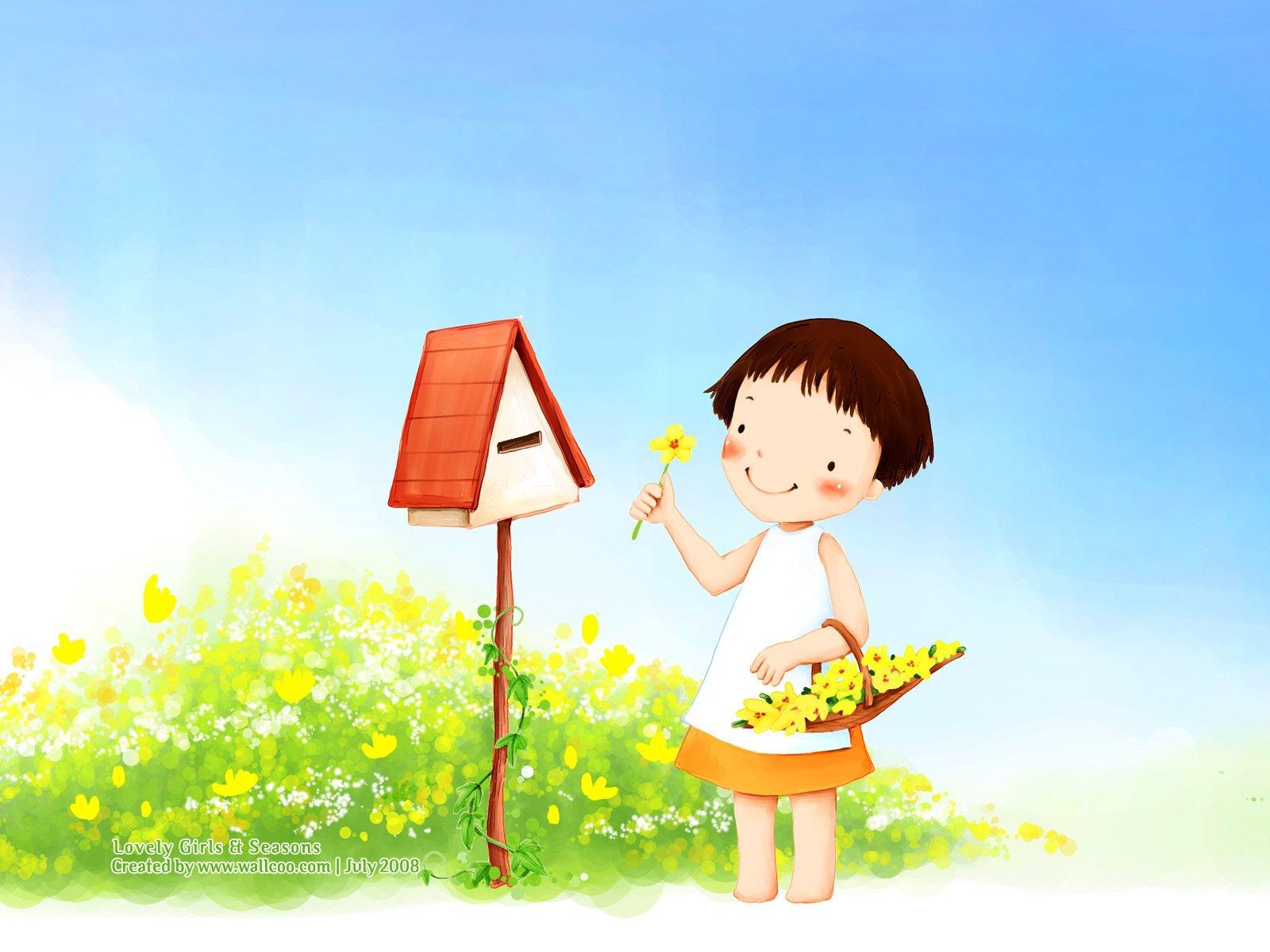 可爱的卡通小女孩二(21p)