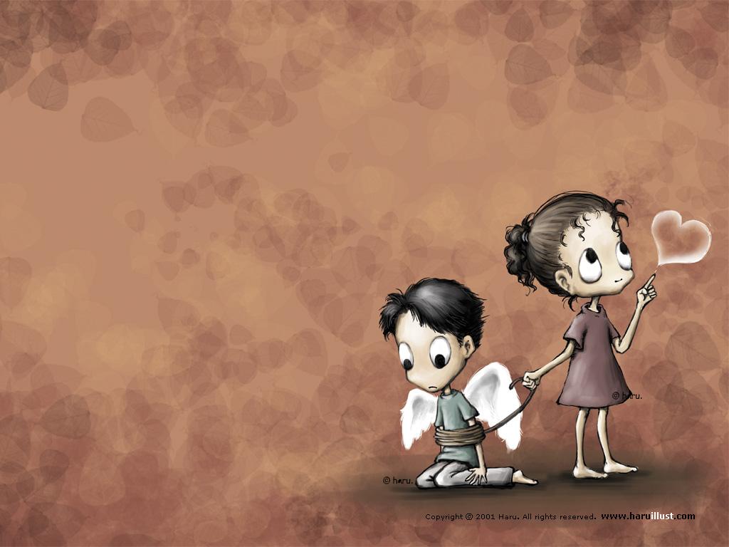 可爱的卡通小女孩图片素材 20p